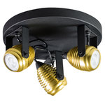 Expo Trading - Spot Wasp met drie kapjes goud plafondlamp