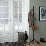 Meubelen-Online - Kapstok Woodstick zwart hout staande kapstok sfeer