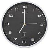 Wandklok met quartz uurwerk radiogestuurd 31 cm zwart_