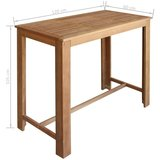 Bartafel Roger 120x60x105 cm massief hout_
