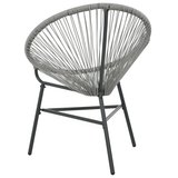 Rotan fauteuil Rondo poly rattan grijs_