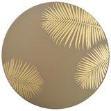 Bijzettafels Palm  40x45 cm/30x40 cm goud set 2 tafels_