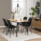 Meubelen-Online - Eethoek Plaisir 120x80cm met 4 stoelen