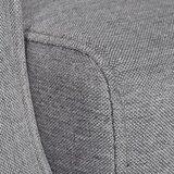 Meubelen-Online - Fauteuil Astra verstelbaar stof grijs