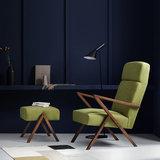 Meubelen-Online - Fauteuil Retrostar highback stof groen vintage design