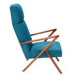 Meubelen-Online - Fauteuil Retrostar highback stof turkoois vintage design