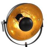Meubelen-Online - Lamp vloerlamp staand E27 31 cm zwart en goud