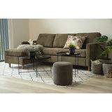 Rib bank met sofa Toscana ribstof groen bij Meubelen-Online