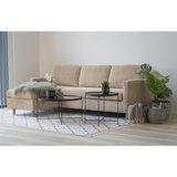 Rib bank met sofa Toscana ribstof beige bij Meubelen-Online