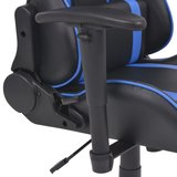Meubelen-Online - Bureaustoel gamestoel Safi ergonomisch verstelbaar blauw