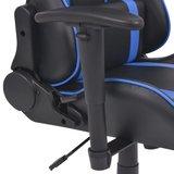 Meubelen-Online - Bureaustoel gamestoel Speed verstelbaar met voetensteun blauw
