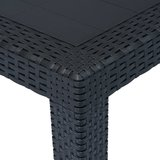 Meubelen-Online - Tuintafel Amber 79x79x72 cm rattan-look kunststof antraciet
