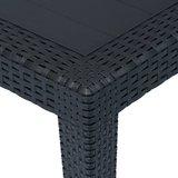 Meubelen-Online - Tuintafel Amber 150x90x72 cm rattan-look kunststof antraciet