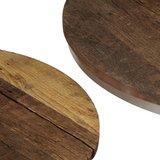 Meubelen-Online - Salontafel set Mambo rond gerecycled hout en staa