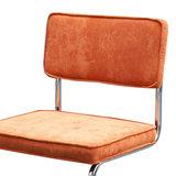 Meubelen-Online - eetkamerstoel Gatsby - rib stoel oranje