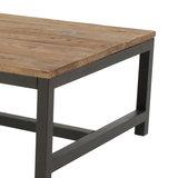 Salontafel Vintage 120x60cm hout met metaal detail