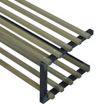Schoenenrek Rino zwart metaal met hout_