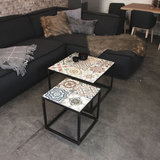 Salontafel set Ibiza metaal met keramiek_