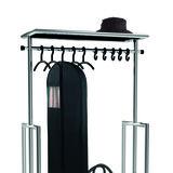 Kapstok Lobby trolley met roede en wielen_