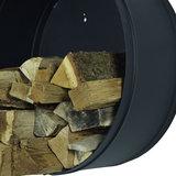 Houtmand Woodstock zwart metaal houtopslag 50cm_