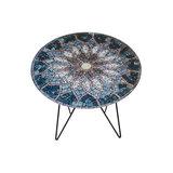 Salontafel Laura sun mosaic print 55cm_