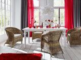 Nova solo Eettafel 200cm Cottage wit hout sfeer