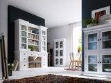 Nova solo Boekenkast Wittevilla glazen deuren, lades en manden sfeer combinatie