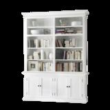 Nova solo Boekenkast Wittevilla wit deuren en open vakken breed