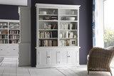 Nova solo Boekenkast Wittevilla wit deuren en open vakken breed sfeer