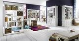Nova solo Boekenkast Wittevilla wit deuren en open vakken breed sfeer combinatie