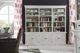 Nova solo Boekenkast Wittevilla wit deuren en open vakken extra breed sfeer