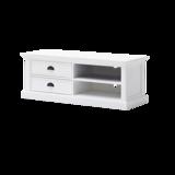 Nova solo - TV-meubel Wittevilla 120cm wit met lades en open vakken zijaanzicht