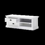 Nova solo - TV-meubel Wittevilla 120cm wit met lades en open vakken geopend