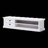 Nova solo TV-meubel Wittevilla 180cm wit met lades en open vakken zijaanzicht