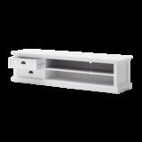Nova solo TV-meubel Wittevilla 180cm wit met lades en open vakken geopend