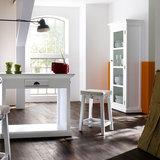 Nova solo - Vitrinekast Wittevilla wit met glazen deur smal sfeer