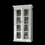 Nova solo - Vitrinekast Wittevilla wit met glazen deuren breed