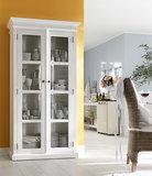 Nova solo - Vitrinekast Wittevilla wit met glazen deuren breed sfeerimpressie