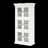 Nova solo Vitrinekast Wittevilla wit 6 deuren glas
