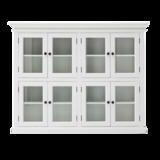 Nova solo - Vitrinekast Wittevilla wit 8 deuren glas