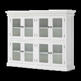 Nova solo - Vitrinekast Wittevilla wit 8 deuren glas zijaanzicht