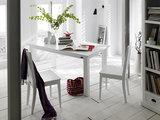 Nova solo - Eetkamerstoel Wittevilla wit hout set 2 stoelen met eettafel