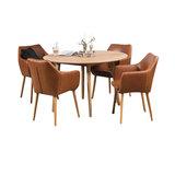 Meubelen-Online Eethoek Ontario met 4 stoelen TOP vintage bruin