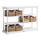 Meubelen-Online - Keukentafel Cottage wit hout met zes boxen hoog