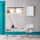 Schommelstoel Marva fauteuil grijs stof sfeer twee