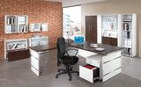 Kerkmann - Office desk bruin met extension bureau in hoekopstelling