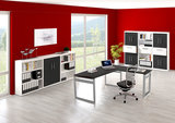 Kerkmann - Bureau Workspace 160cm wit hoogte verstelbaar hoekopstelling sfeer