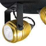 Expo Trading - Spot Wasp met twee kapjes goud plafondlamp detail