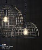 Expo Trading - Hanglamp Iron 40cm draadlamp blank metaal sfeer