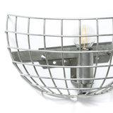 Expo Trading - Wandlamp Iron draadlamp blank metaal detail